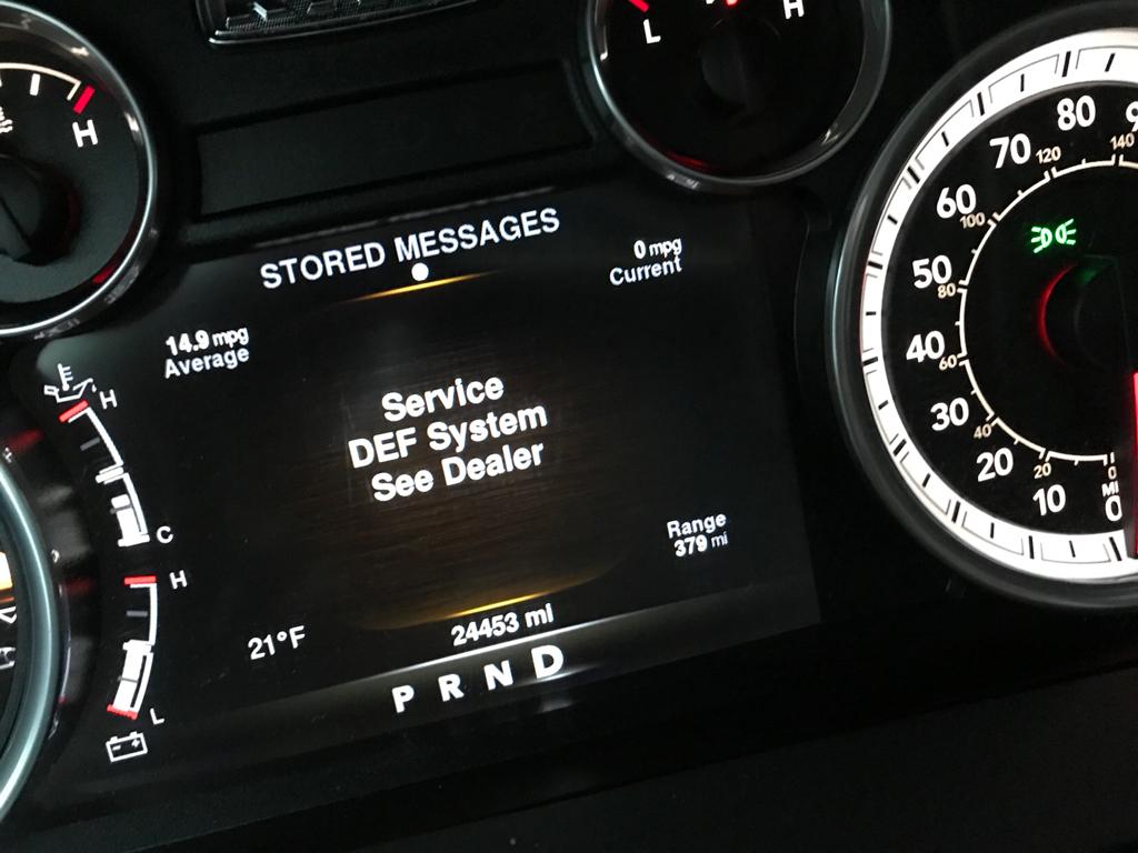 Service Def System See Dealer Message Dodge Cummins