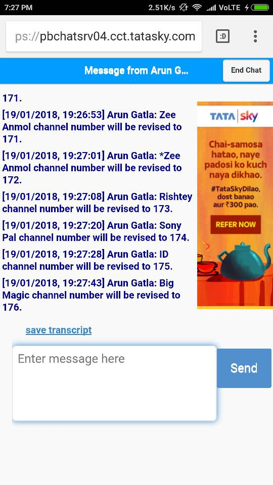 Tata Sky Browse The Latest Snapshot