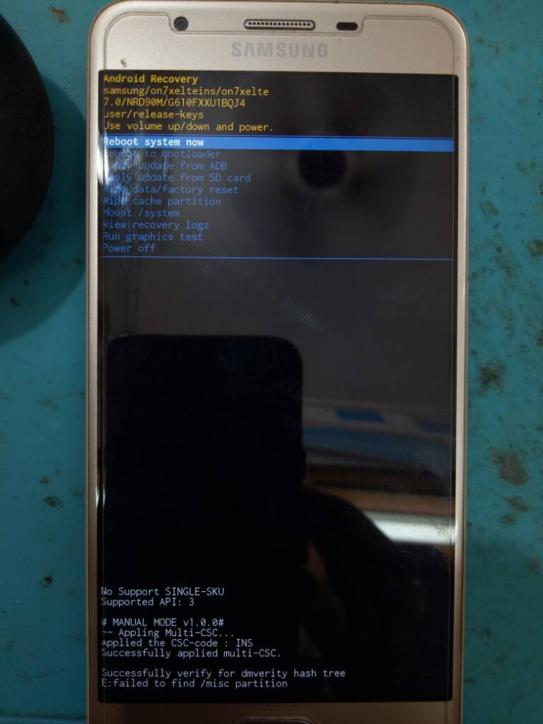 Secure Check Fail Bootloader G610f