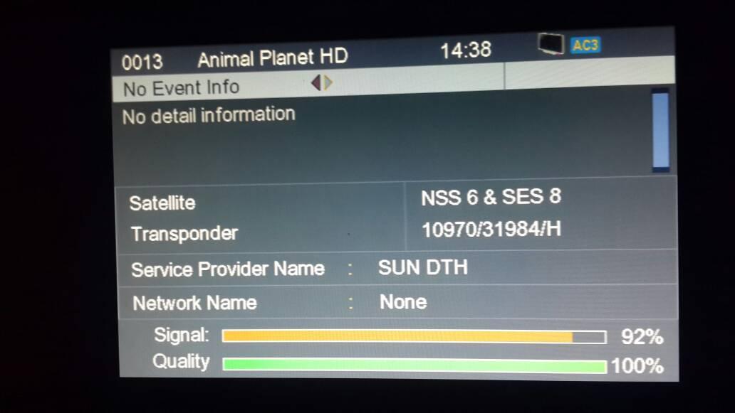 My HD reciever newset aero 333 plus