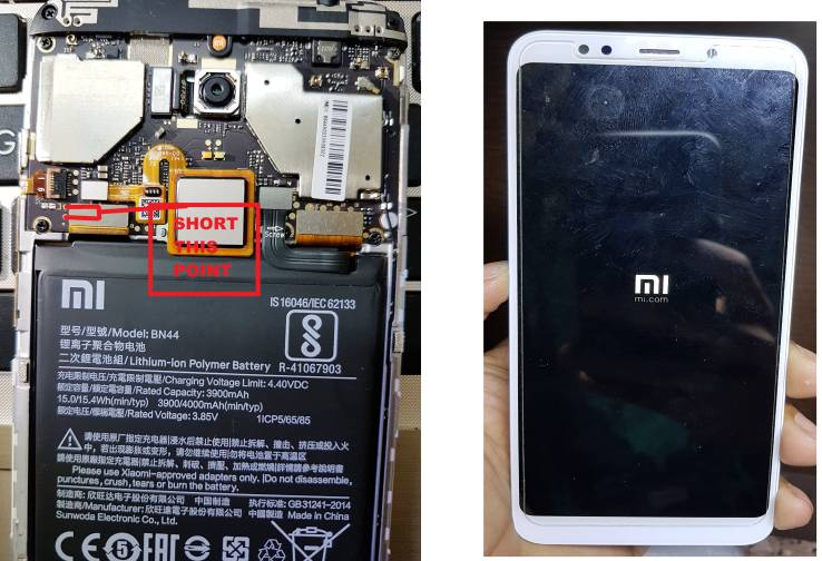 Mi note 5 edl testpoint and flash file