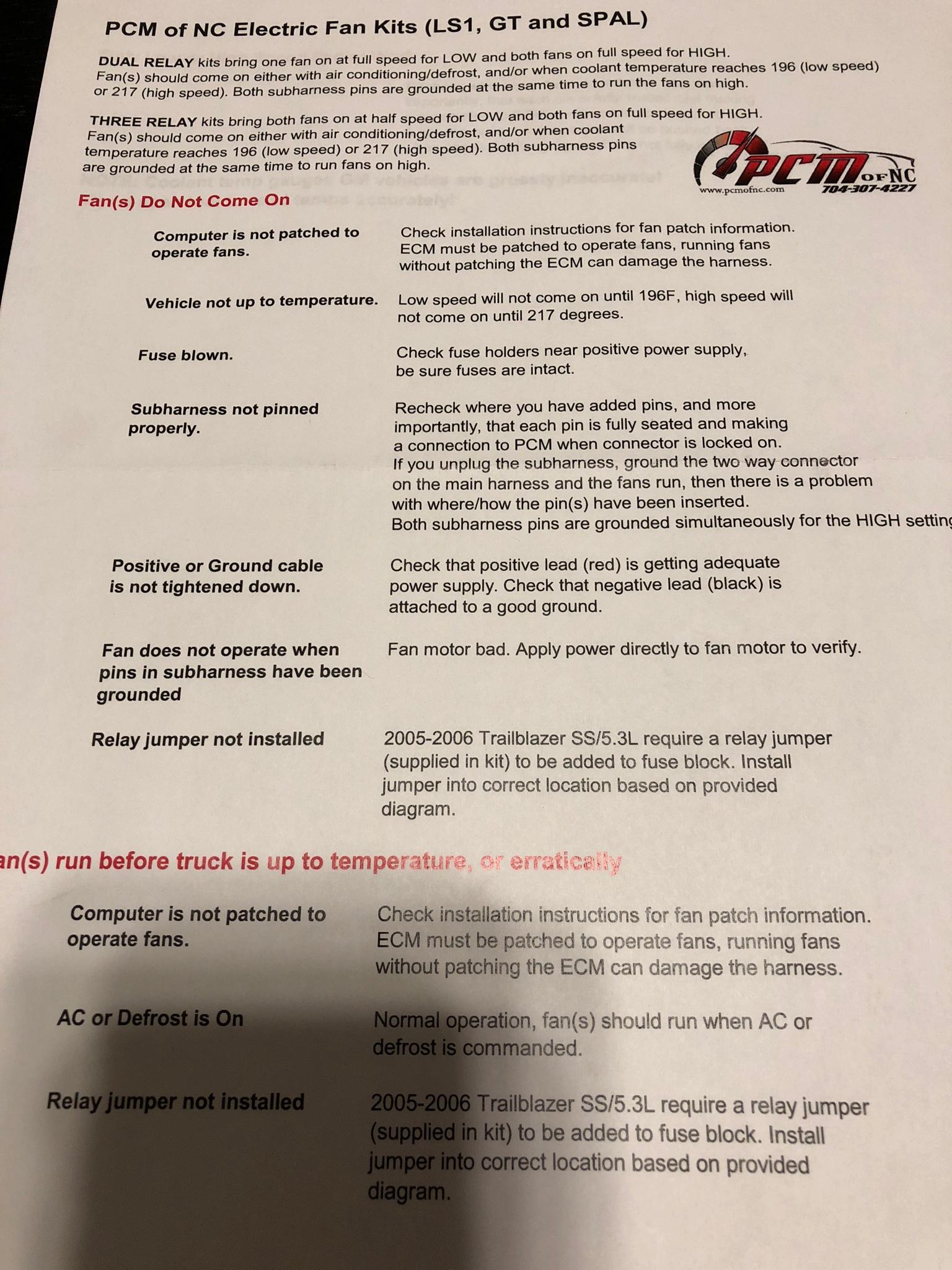 Spal fan issues - Chevy Trailblazer SS Forum