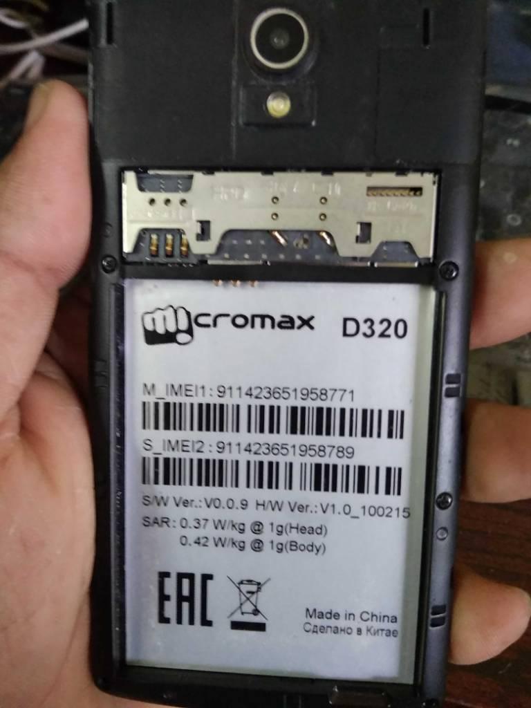 Micromax d320 sw V0 0 9 hw v1 0 Firmware Need   [Solved]