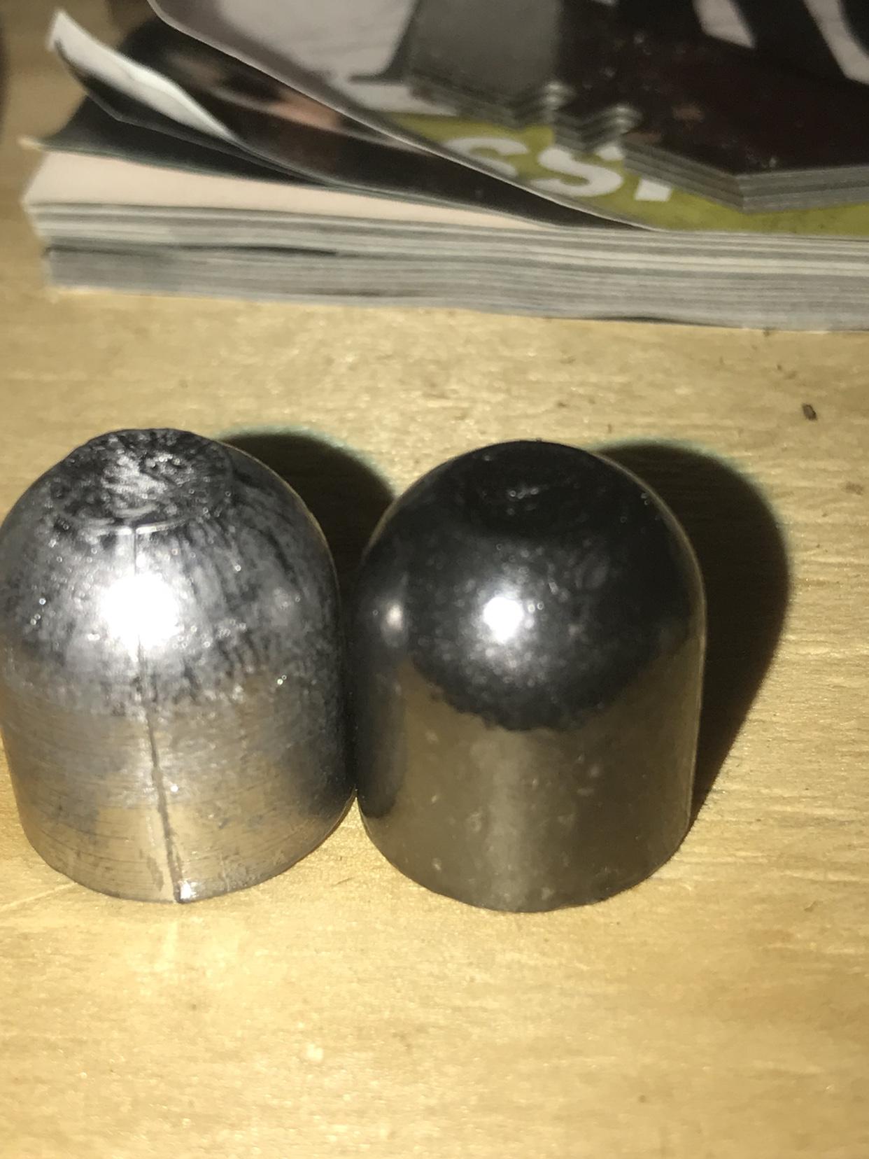 Tumbling round balls, buckshot, and slugs