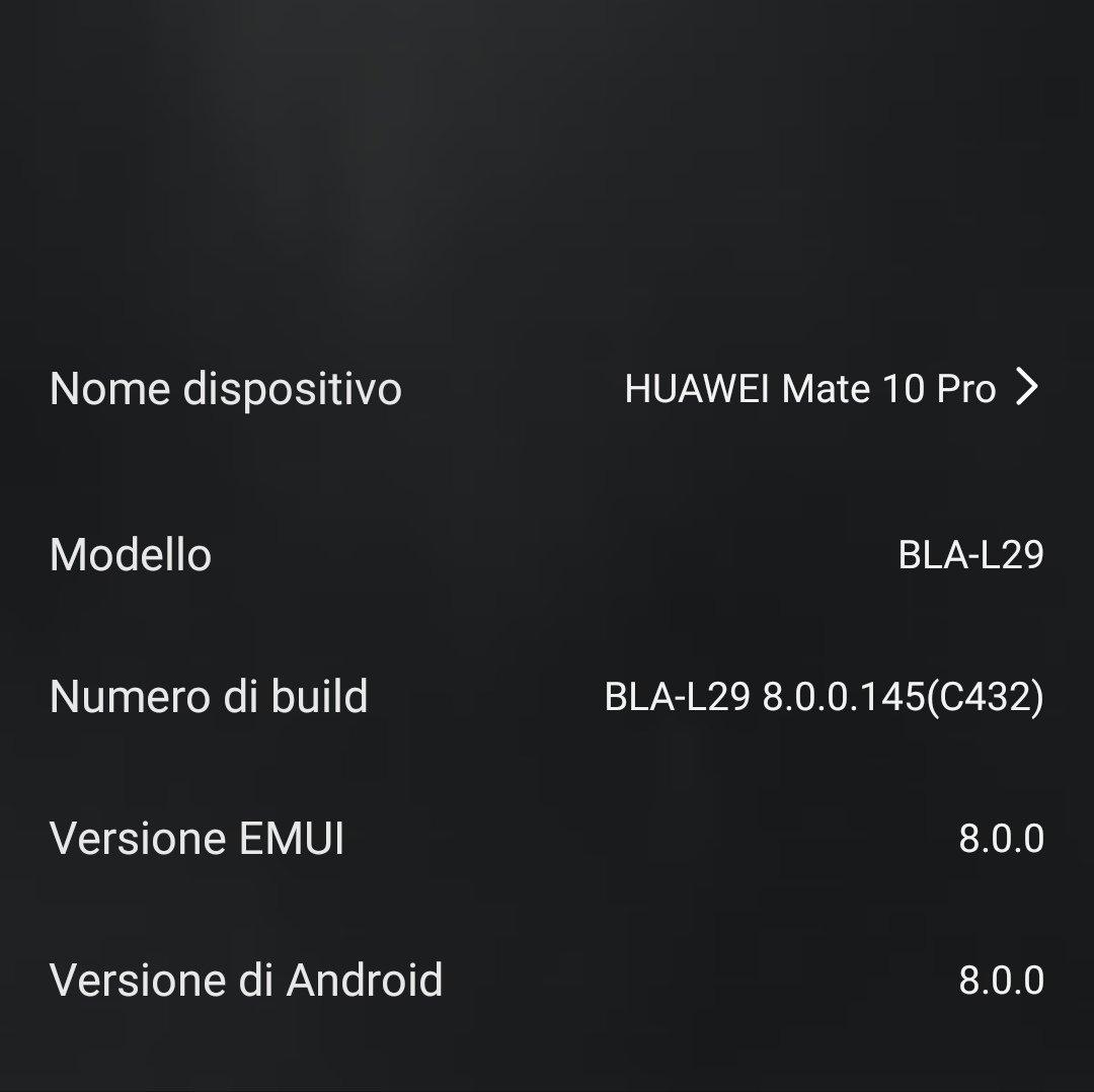 Huawei Mate10 Pro] - MODDING - Notifiche e procedure