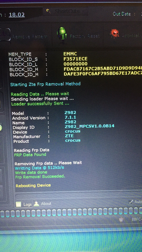 ZTE Z982 FRP REMOVAL DONE  BY Uni Android Tool  - GSM-Forum
