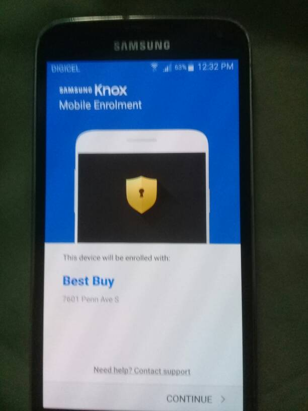 Knox mobile enrollment bypass request [Answered] - GSM-Forum