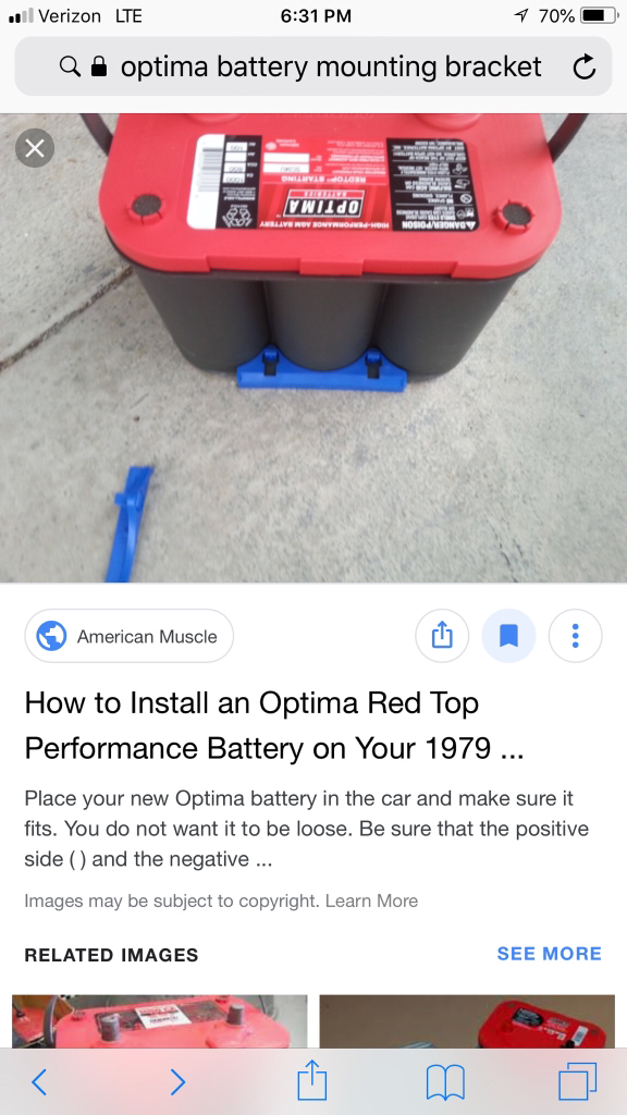 Optima Battery Hold Down The Chicago Garage