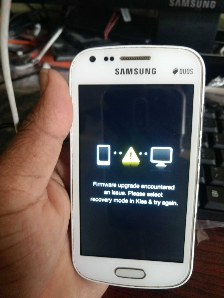 Samsung S7582 firmware upgrade encountered Error