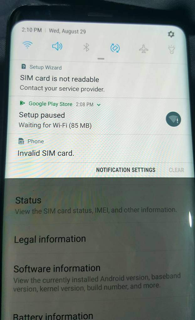 G965U) Sprint Unable to unlock and not unlocking - GSM-Forum