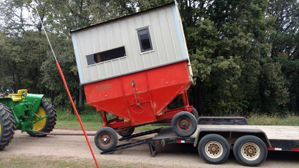 Wagon blind build   All Things Habitat - Lets talk