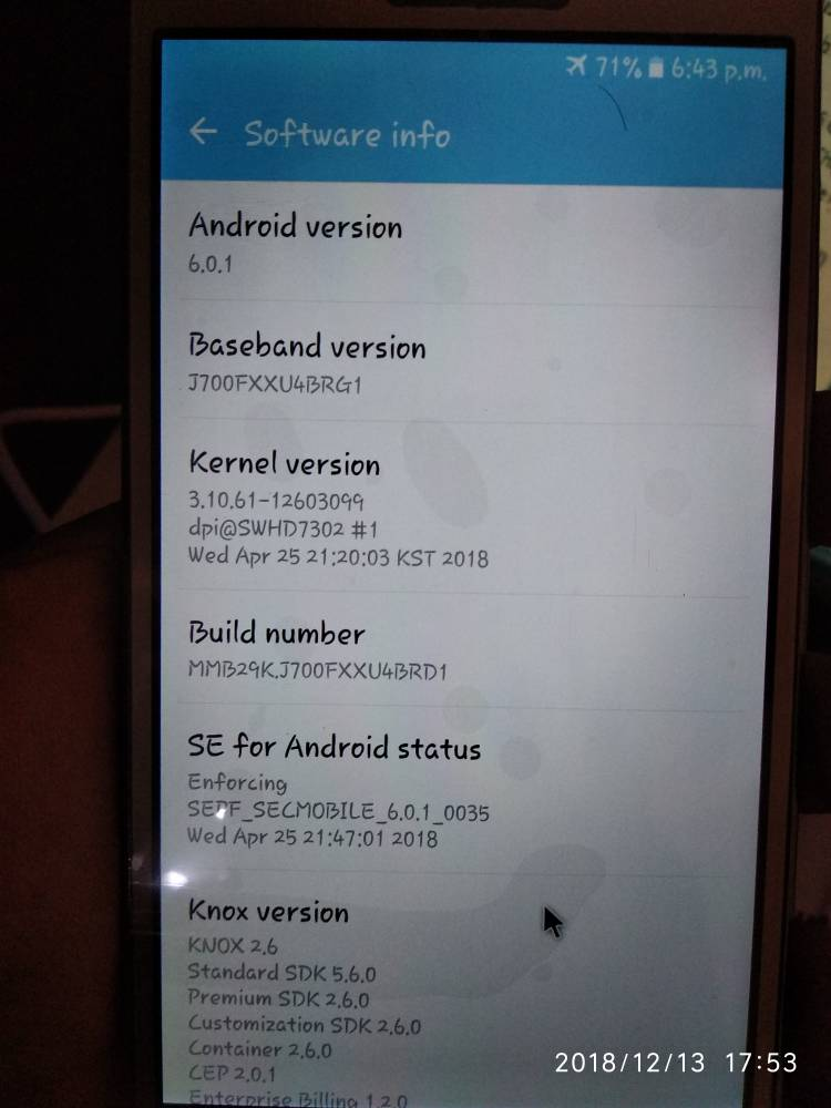 Samsung J700f Touch not Working solution Needed