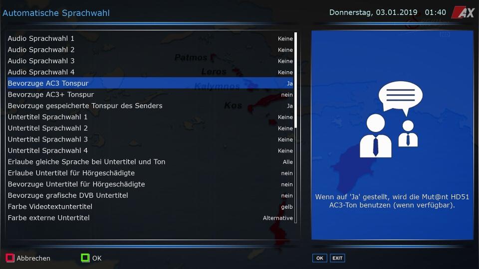 Automatischer Umgang Mit Ac3 Audio Downmix