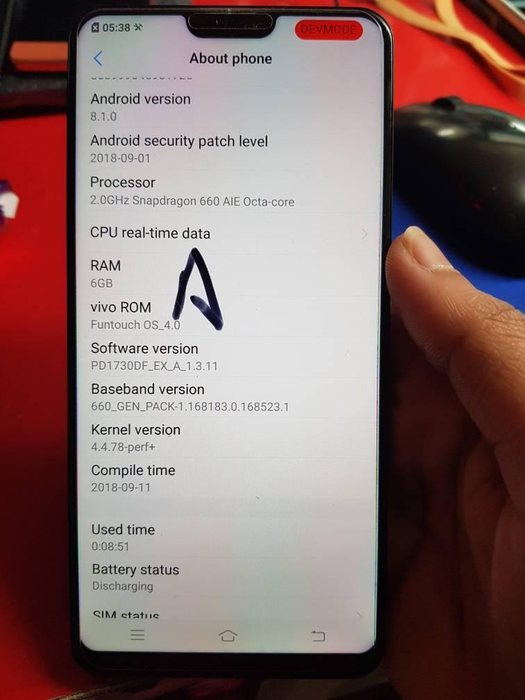 Vivo V9 Pro firmware need