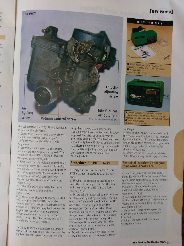 Tuning your solex carb - 28, 30,34 pict  A guide from total VW