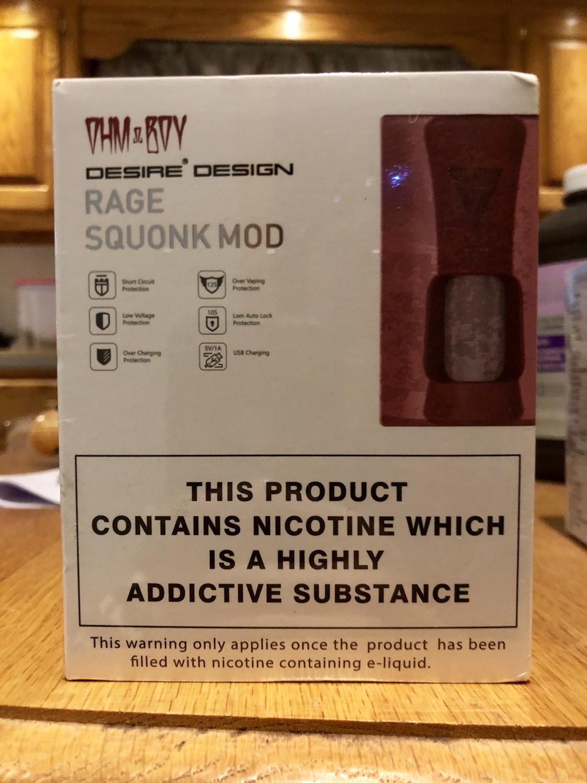 WTS/WTT Desire Rage Squonk Mod (Brushed) | Vaping