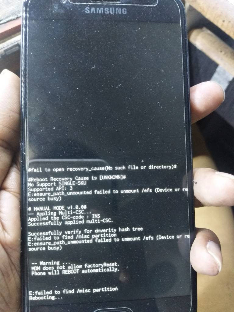 Mdm Does Not Allow Factory Reset S8