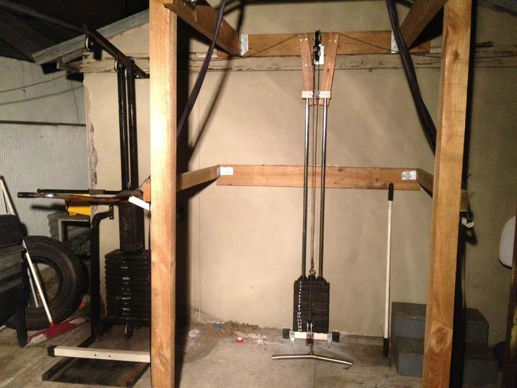 diy power rack with lat pulldown best diy do it your self
