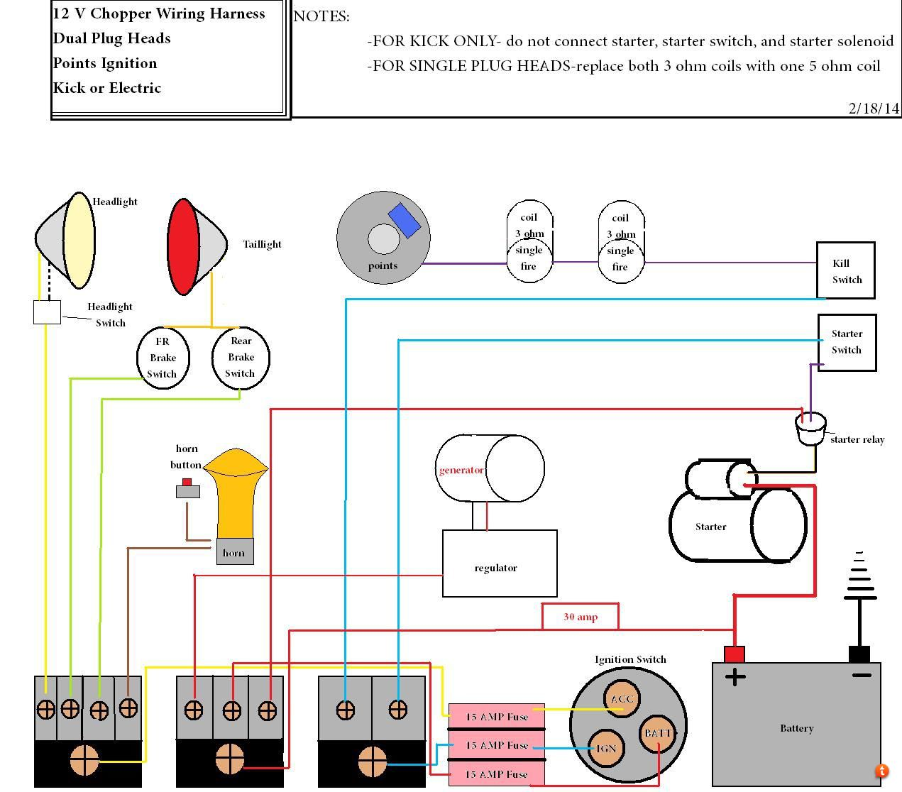 Proofread My Shovelhead Wiring Diagram 4 Wire Starter Solenoid I Realize That For Single Fire Need An Electronic Ignition Before Anyone Corrects But If Has Any Suggestions On How To Make It Better Please