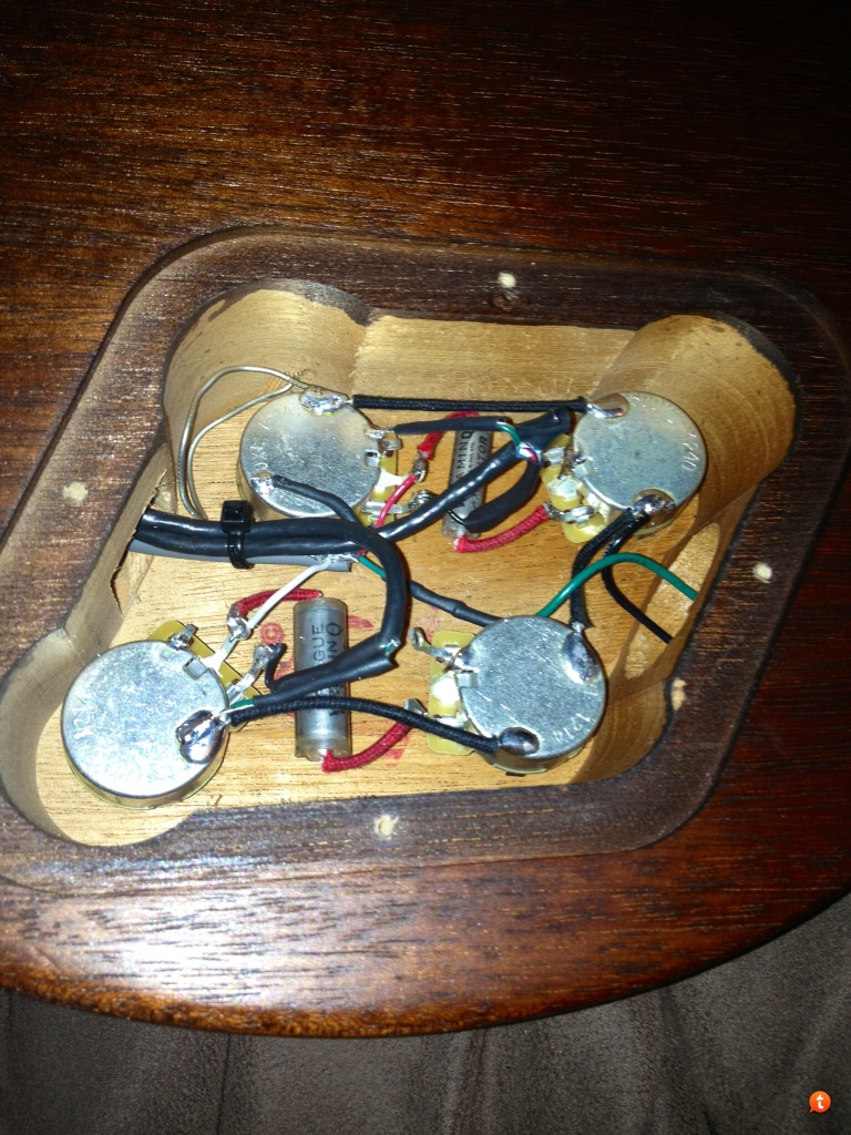 Changing Pickups On A New Gibson Guitar With The Circuit Board Wiring Les Paul Standard Diagram Four Conductor