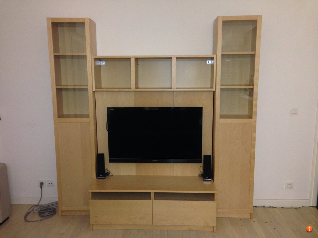 Meuble Tv Colonne Ikea vends] bureau informatique et meuble tv modulable ikea