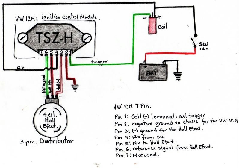 wiring ignition module and hall effect sensor help needed the rh vwclub co za vw distributor wiring diagram vw electronic distributor wiring