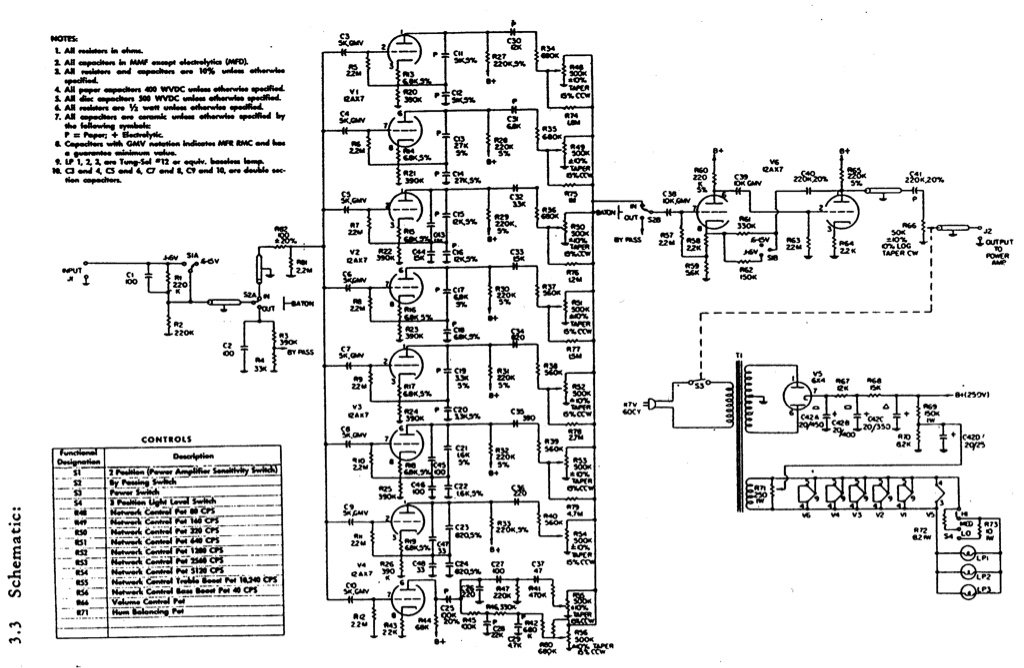 Vac tube Equalizer schematic? - diyAudio