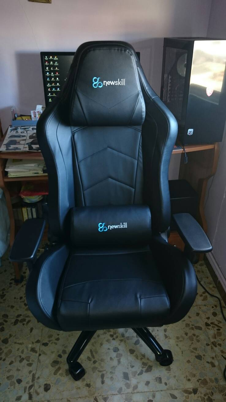 Sillas gamer para navidad for Cojin lumbar silla oficina