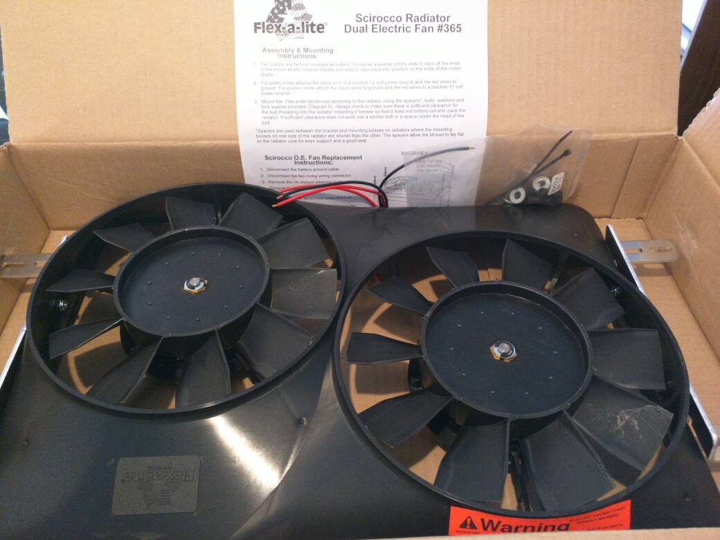 Flexalite Electric Fan Black Magic Series Coximportcom A Vwvortexcom Flex Lite 365 Scirocco Dual Anyway I Popped Out The Bulky Protruding Oe And Shroud Installed This One