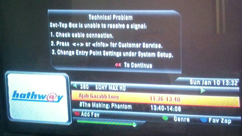 Breaking News - Sony MAX HD added in Hathway Indore | EntMnt