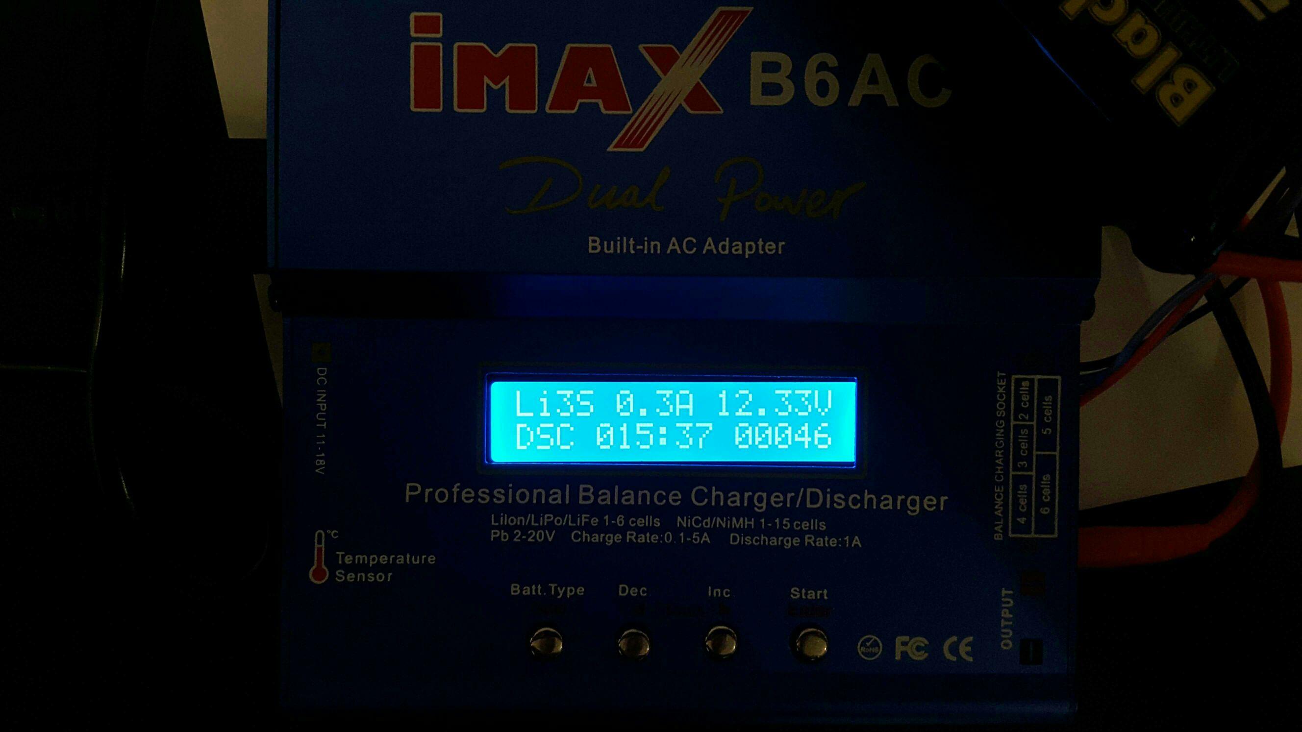 iMax B6 SkyRC LiPo//NiMh 1s-6s Akku 50W Balancer Ladegerät Blau Langlebig