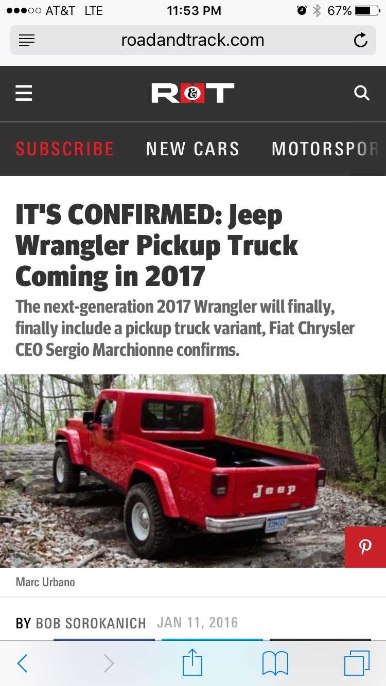2017 Jeep Wrangler Pickup Truckprobablypossiblymaybe Concept Expedition Portal