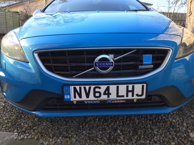 I think they finish the car off nicely! & Number Plate Holders - Volvo V40 Forums