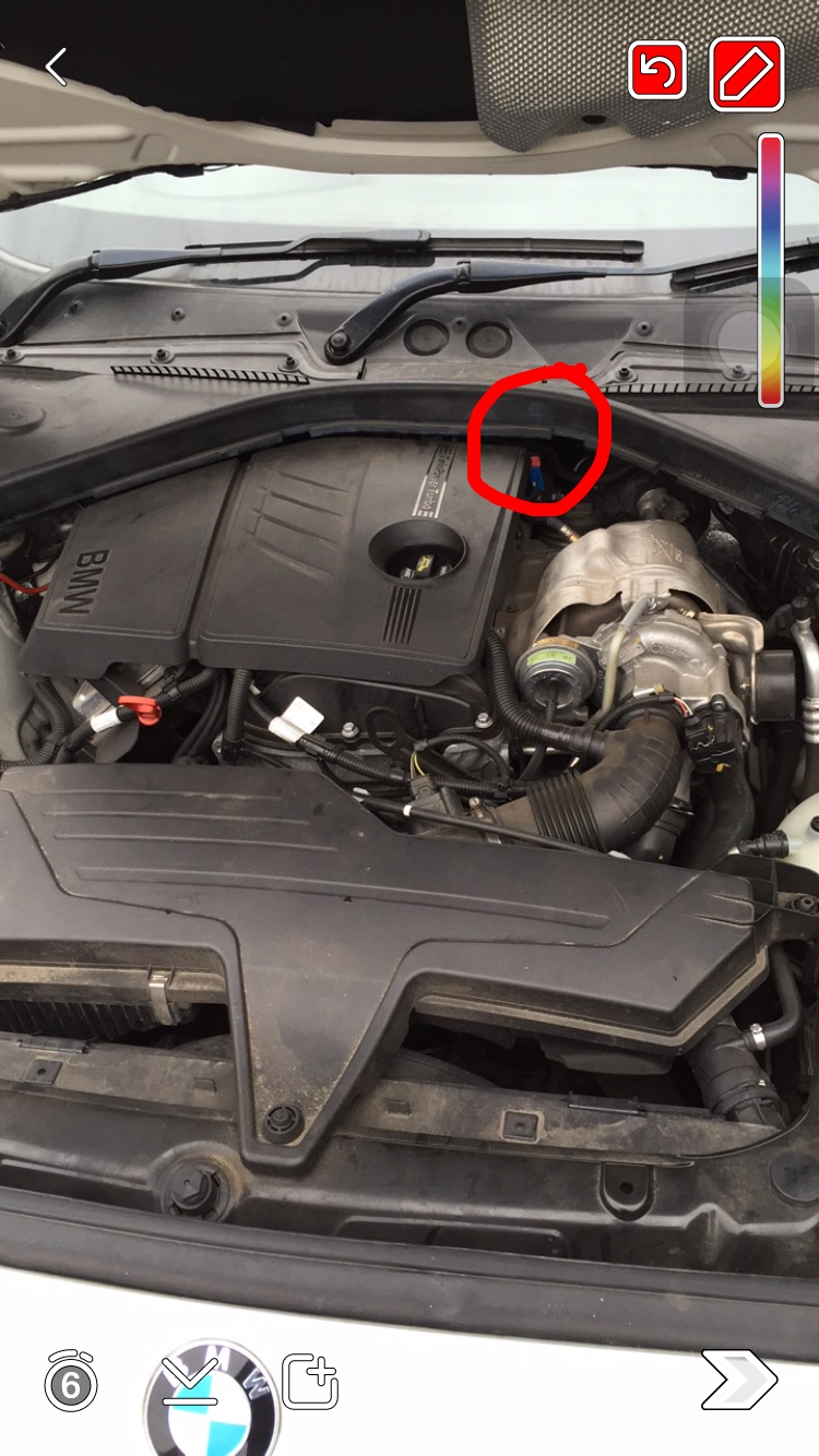 Updated Leak Identified Where Is The Coolant Going In My F20 Vehicle Engine This Picture Red Circle Was It Sounded Like Coming From A Closer Look And Could Just About See Some White Water Stains