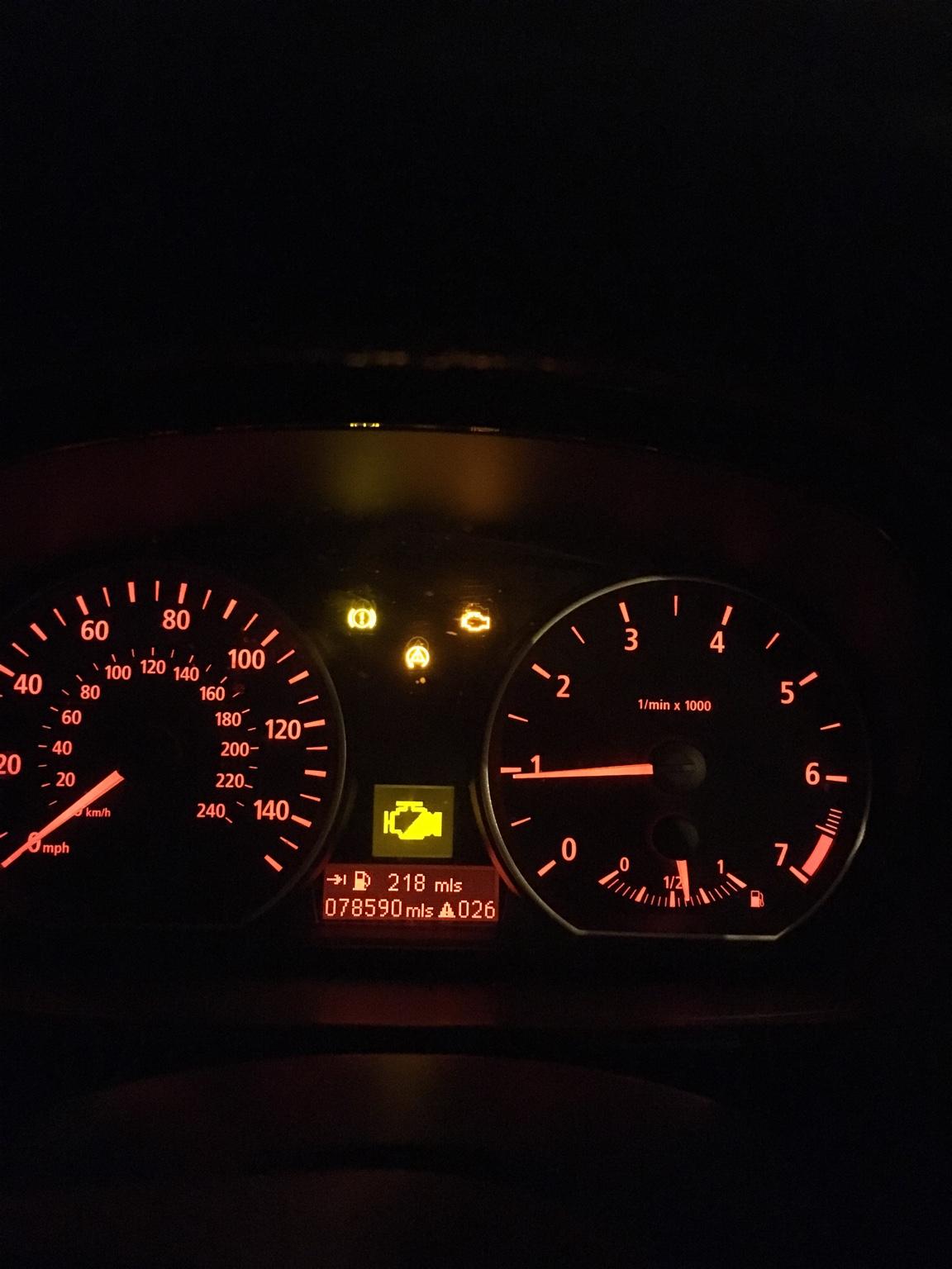 Bmw 116 1.6 E87 Engine Light Problem