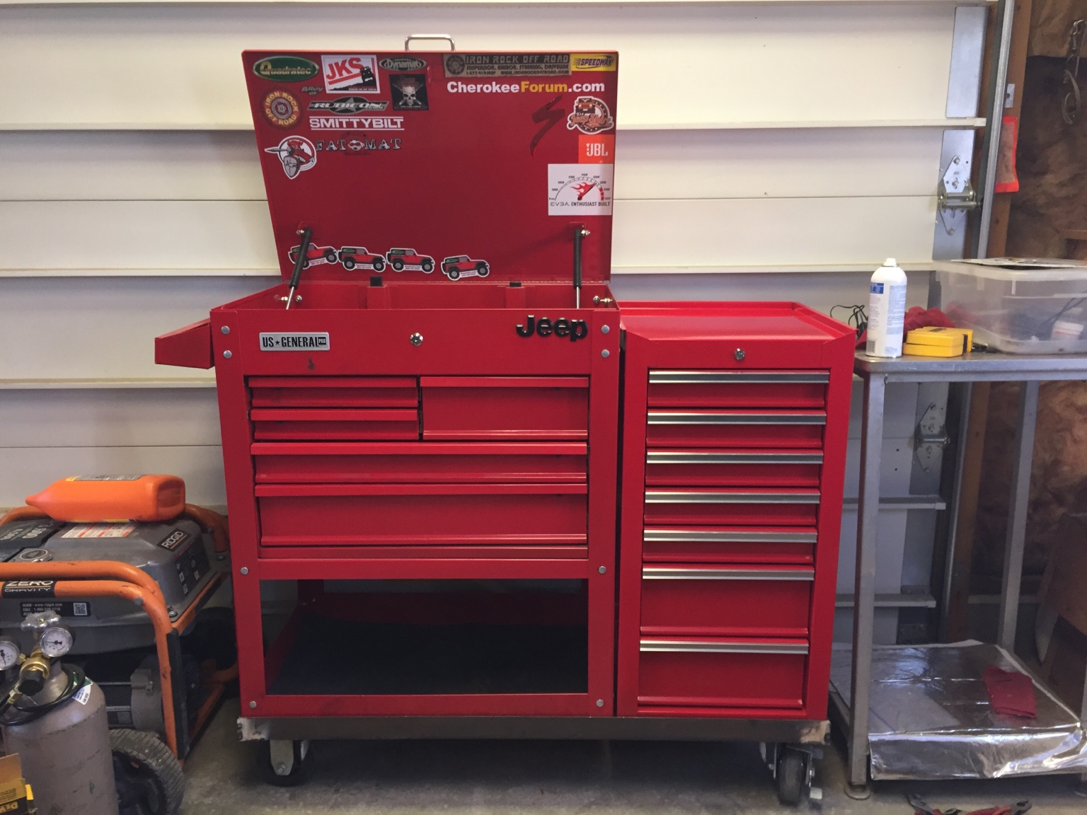 Tool box modifications gallery diagram writing sample for Garage modification