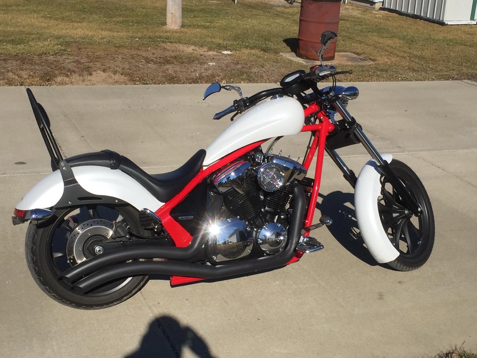 Let's show off our white Fury's - Honda Fury Forums: Honda Chopper Forum