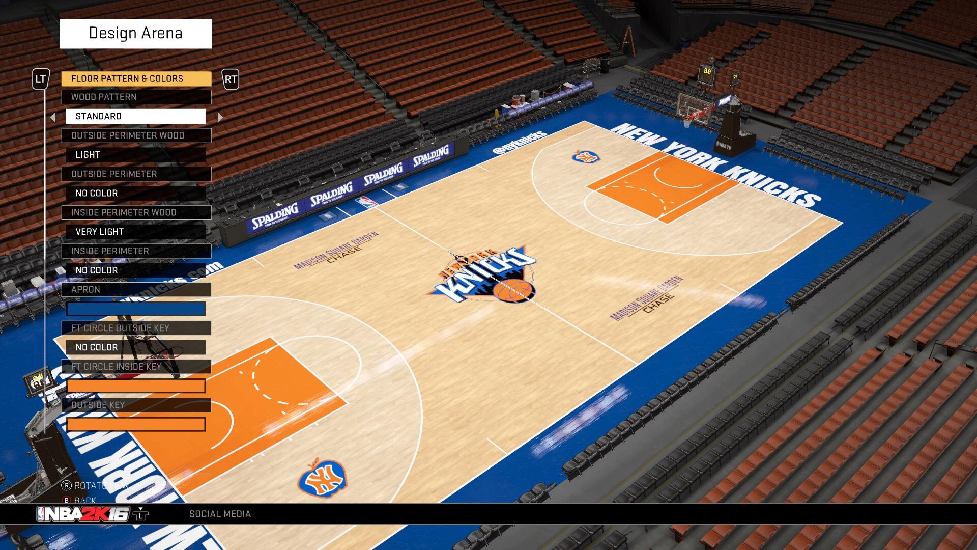 Nba Basketball New York Knicks: NBA 2K16 Court Designs And Jersey Creations.