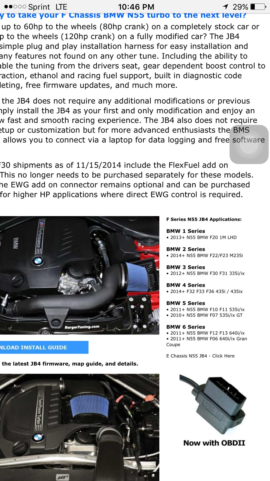 Stage 2 JB4 $450 (compatibility for vehicle is listed on