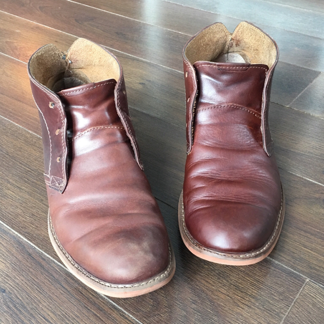 how to clean clarks desert boots oil