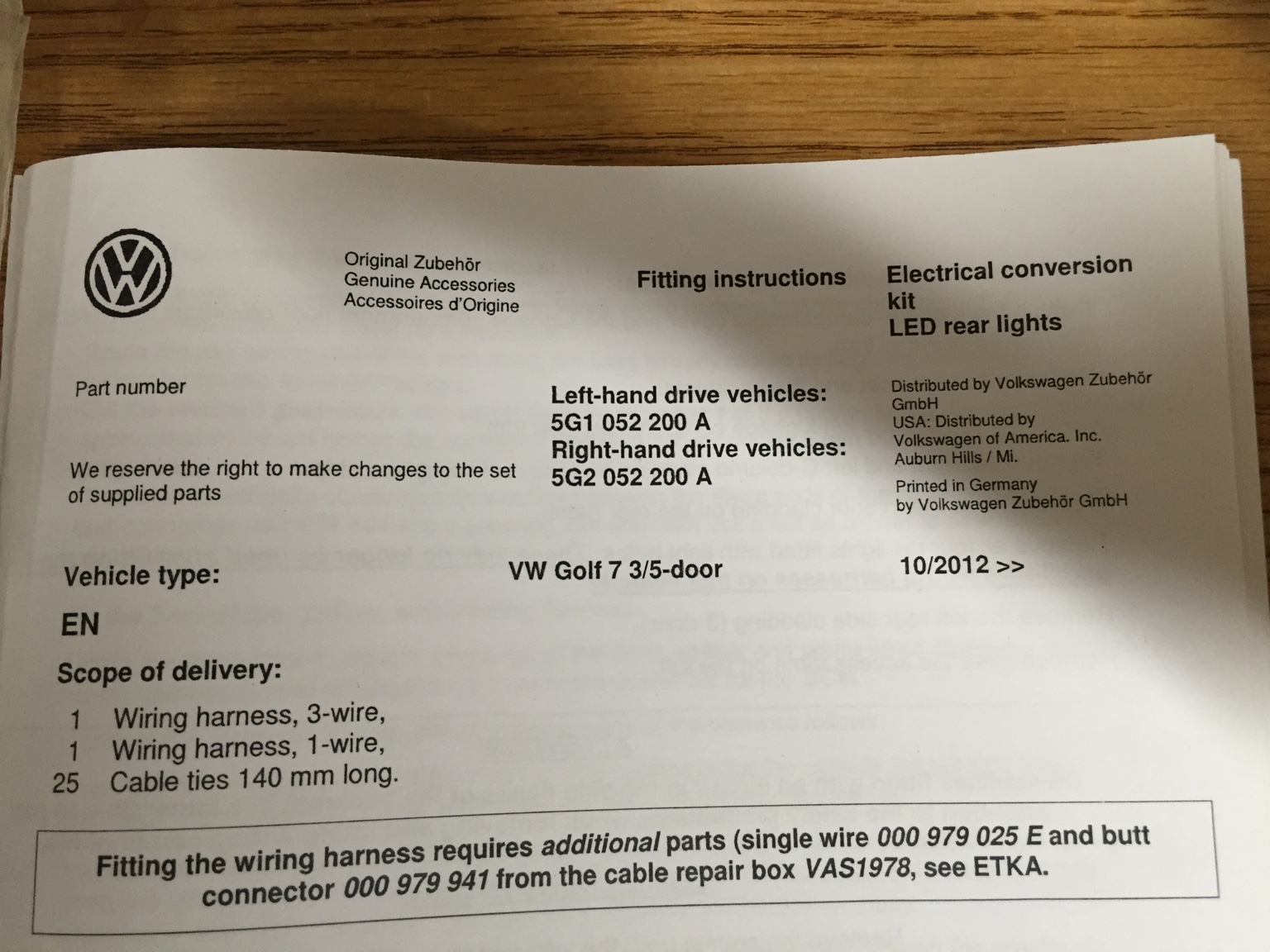 Vwvortexcom Fs Oem Led Tail Light Wiring Harness New 60 Shipped Ipad Sent From My Using Tapatalk
