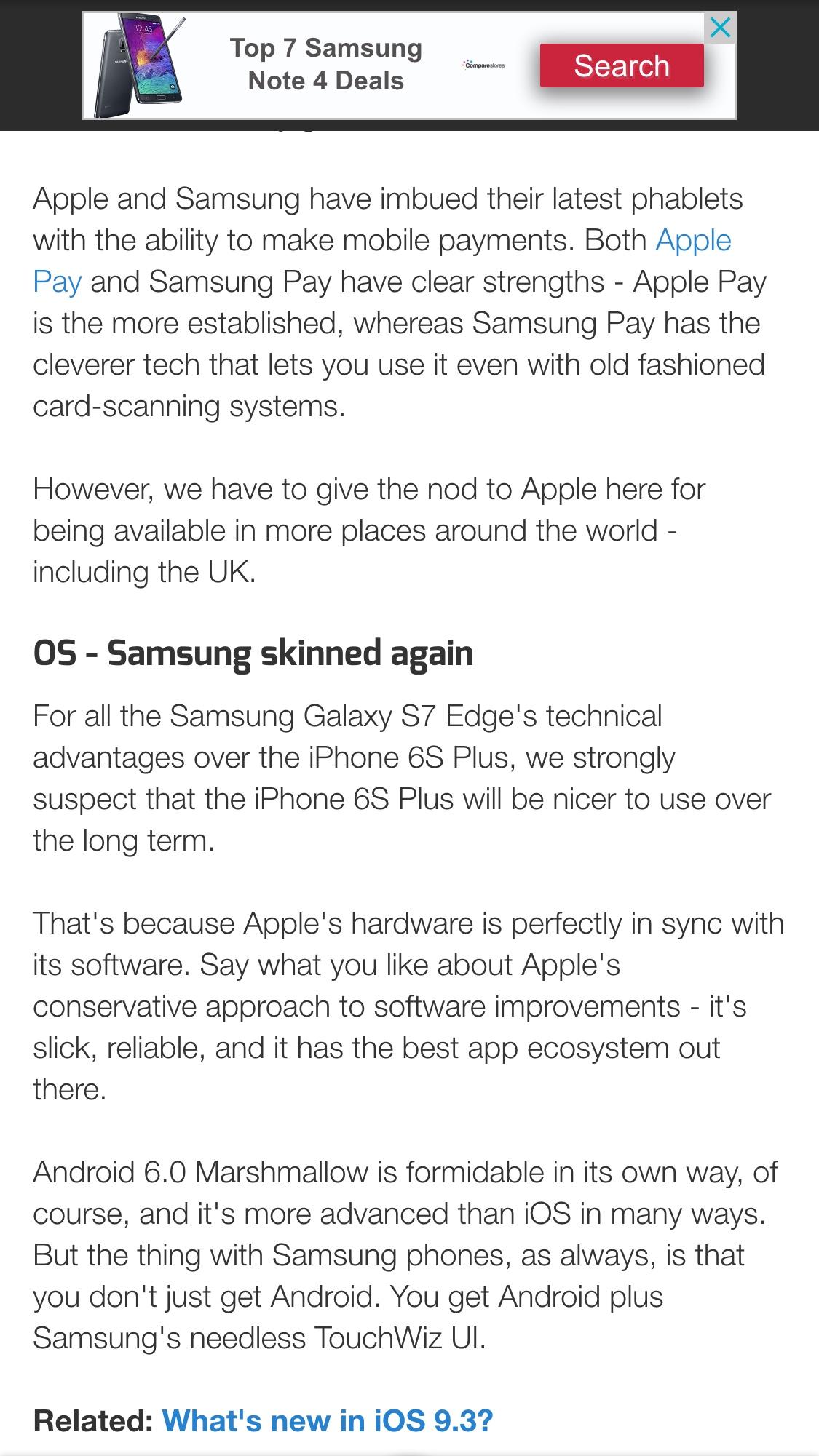 Anyone considering Galaxy s7 edge ? - iPhone, iPad, iPod