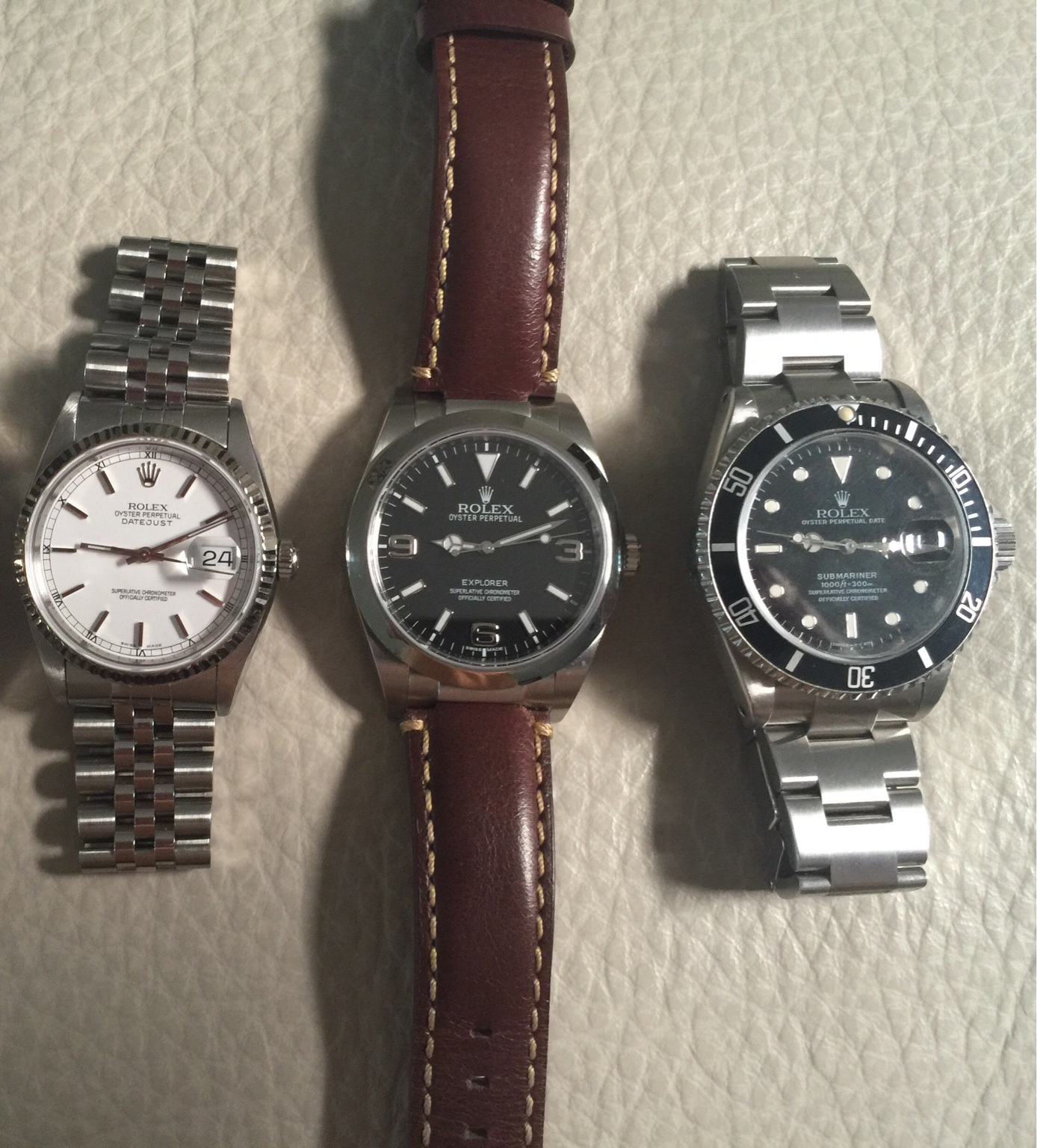 Is The Explorer I 39mm dial larger than submariner or