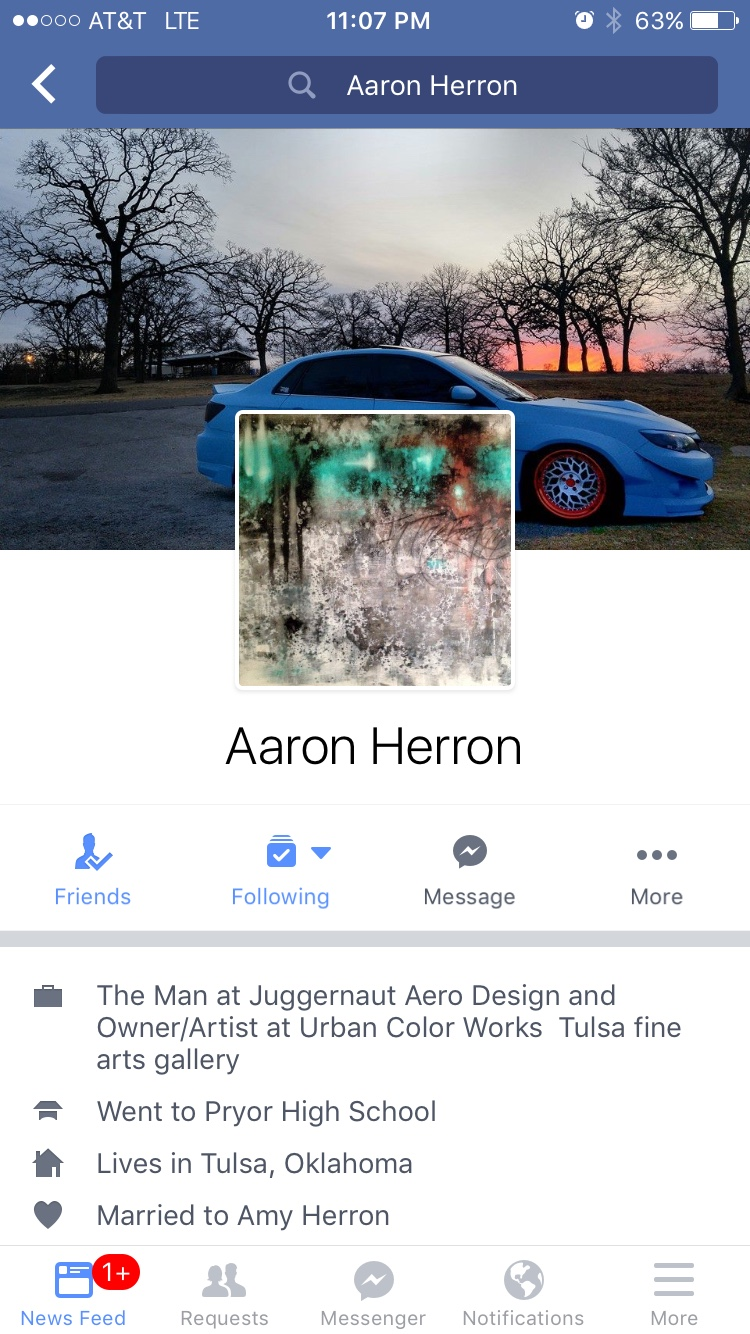 Hit up aarron directly