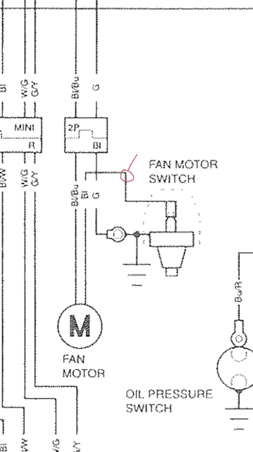 SP1 Fan: Toggle Switch - Honda RC51 Forum : RC51 Motorcycle ... Radiator Fan Wiring Diagram For Sp on