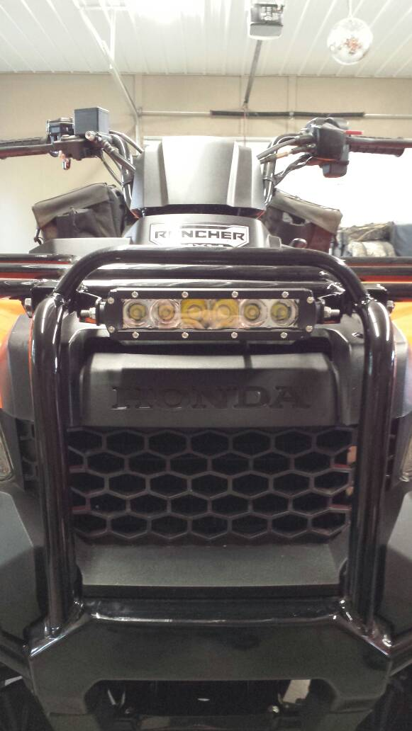 Front Light Bar Honda Foreman Forums Rubicon Rincon