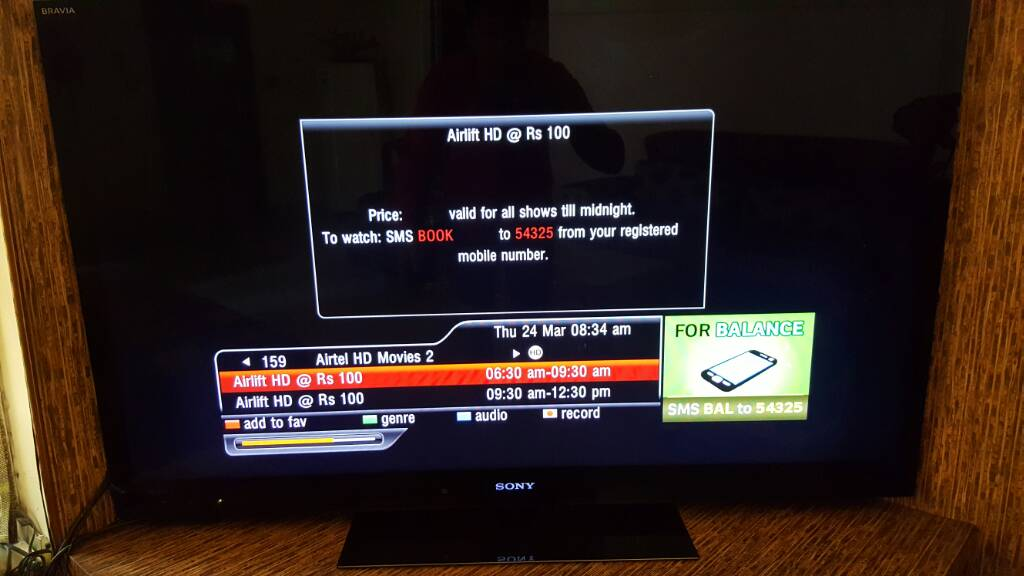 Breaking News - Airtel movies 2 hd added   EntMnt
