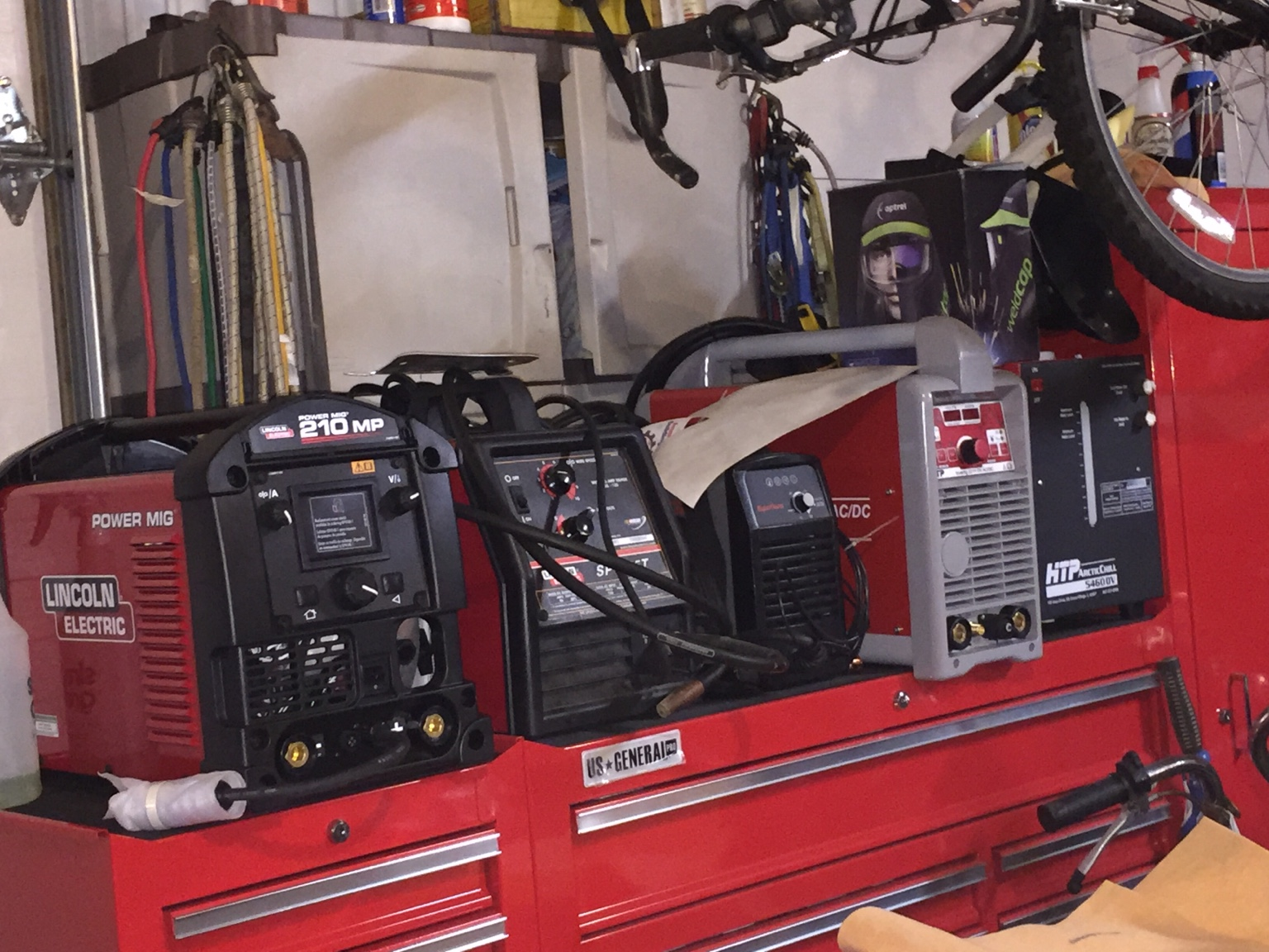Left To Right The 210 Mp An Sp135t Mig Hypertherm Max 30 Dual Voltage Plasma Cutter Htp 221 Invertig Tig Welder Arctic Chill Dv
