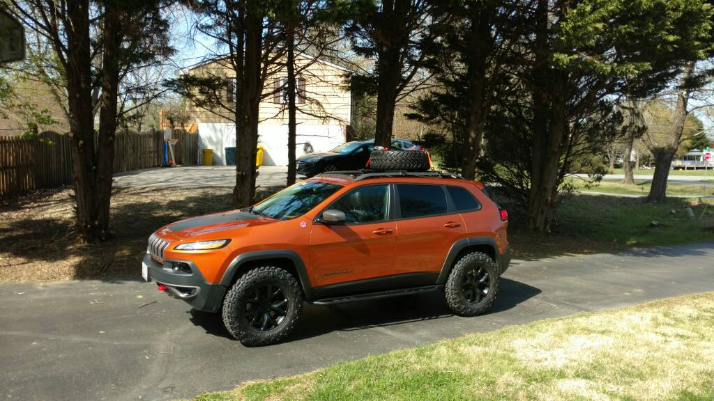 New Roof Tire Rack 2014 Jeep Cherokee Forums