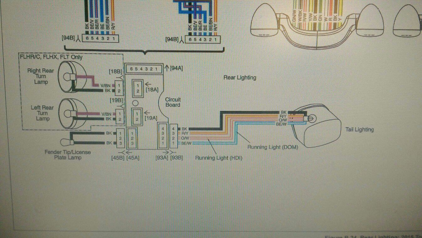 2014 Flhx Wiring Diagram | Wiring Diagram Harley Tri Glide Tail Light Wiring Diagram on
